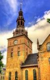 奥斯陆大教堂看法  库存图片