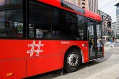 奥斯陆市公共汽车 免版税图库摄影