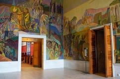 奥斯陆市政厅的内部,挪威 库存图片