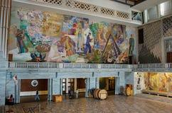 奥斯陆市政厅的内部,挪威 免版税库存图片