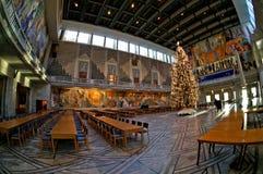 奥斯陆市政厅的内部 挪威 图库摄影