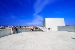 奥斯陆歌剧院夏天 免版税库存图片