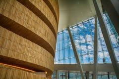奥斯陆歌剧院心房入口地区 图库摄影