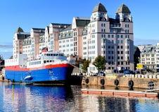 奥斯陆港口 免版税库存图片