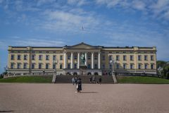 奥斯陆王宫,奥斯陆,挪威 库存照片