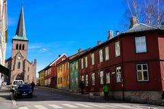 奥斯陆郊区 免版税库存图片