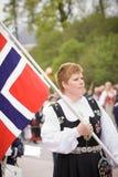 奥斯陆,挪威- 2010年5月17日:国庆节在挪威 免版税库存图片