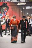 奥斯陆,挪威- 2010年5月17日:国庆节在挪威 免版税库存照片