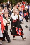 奥斯陆,挪威- 2010年5月17日:国庆节在挪威 库存照片