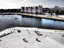 奥斯陆,挪威- 9月13 :奥斯陆挪威港口是其中一种奥斯陆的巨大吸引力 位于在奥斯陆海湾在奥斯陆,挪威 库存图片