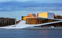 奥斯陆-国家歌剧院房子,挪威 免版税库存图片