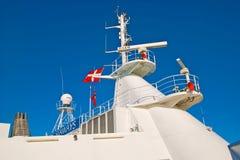 奥斯陆 挪威 轮渡的帆柱 图库摄影