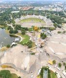 奥林匹亚公园的体育场在慕尼黑,德国 免版税库存图片