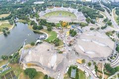 奥林匹亚公园的体育场在慕尼黑,德国 库存图片