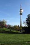 奥林匹亚公园,慕尼黑,巴伐利亚,德国, Olympiapark 免版税库存照片