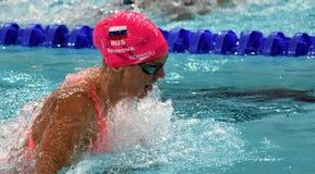 奥林匹亚和世界拥护游泳者尤莉娅YEFIMOVA鲁斯 库存照片