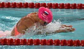 奥林匹亚和世界拥护游泳者尤莉娅YEFIMOVA鲁斯 图库摄影