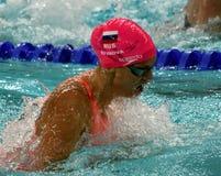 奥林匹亚和世界拥护游泳者尤莉娅YEFIMOVA鲁斯 库存图片