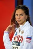 奥林匹亚和世界拥护游泳者尤莉娅YEFIMOVA鲁斯 免版税库存照片