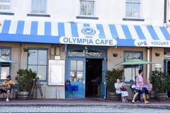 奥林匹亚咖啡馆 库存图片
