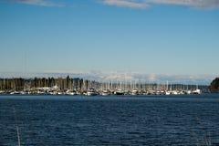 奥林匹亚小游艇船坞 库存图片