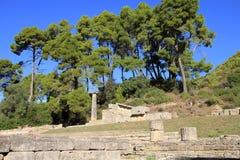 奥林匹亚废墟  库存照片