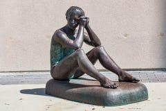 奥林匹克体操运动员特里萨Kulikowski雕象  库存图片