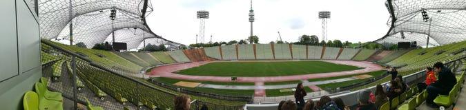 奥林匹克体育场在伟大的慕尼黑 免版税库存照片