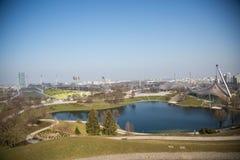 奥林匹克体育场在慕尼黑,巴伐利亚 免版税库存图片
