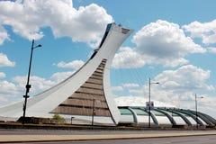 奥林匹克体育场在蒙特利尔,魁北克加拿大 免版税库存照片