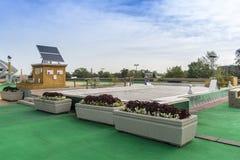 奥林匹克体育场太阳电池板 库存照片