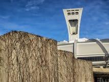 奥林匹克体育场帆柱 免版税库存图片