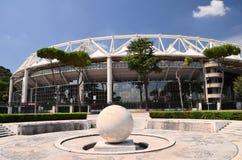 奥林匹克体育场的外部在罗马,意大利 库存图片