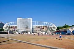 奥林匹克体育场(安全委员会Olimpiysky) Kyiv 免版税库存图片