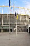 奥林匹克体育场建设中UEFA欧元的2012年 库存照片
