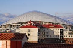 奥林匹克体育场Fisht在爱德乐,俄罗斯 免版税库存图片