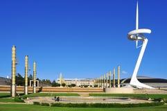 奥林匹克公园在巴塞罗那,西班牙 免版税图库摄影