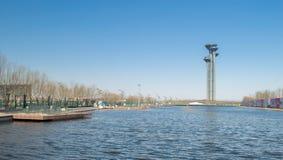 奥林匹克公园的湖 免版税库存图片