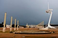 奥林匹克公园Montjuic,巴塞罗那,西班牙 库存照片