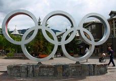 奥林匹克圆环 免版税图库摄影