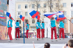 奥林匹克圣火的移交仪式 免版税库存图片