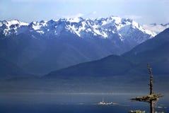奥林匹克山和种族岩石灯塔的图象 免版税库存图片