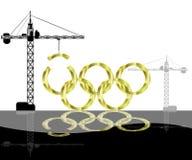 奥林匹克建筑的比赛 免版税图库摄影