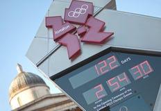 奥林匹克时钟的读秒 免版税图库摄影