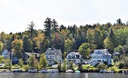 奥林匹克普莱西德湖纽约州美国房地产 免版税库存照片
