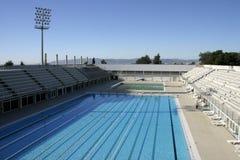 奥林匹克池游泳 免版税库存照片
