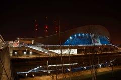 奥林匹克池游泳 库存图片