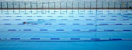 奥林匹克池 库存照片