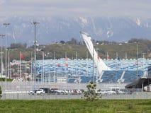 奥林匹克火炬在索契 免版税库存图片