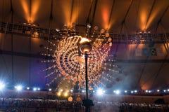 奥林匹克火葬用的柴堆2016年 库存图片